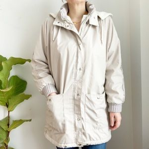Vintage Niccolini Cream Hooded Parka Jacket Sz 10
